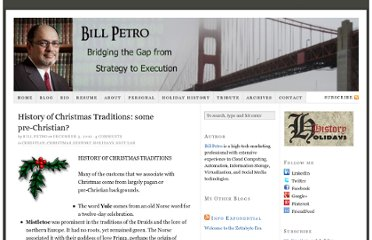 http://billpetro.com/history-of-christmas-traditions