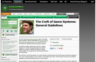 http://gamasutra.com/view/news/38639/The_Craft_of_Game_Systems_General_Guidelines.php