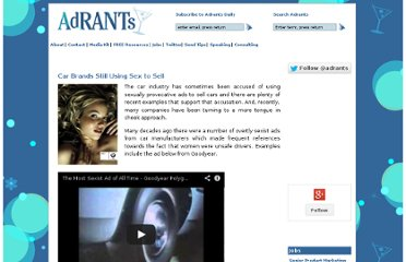 http://www.adrants.com/2011/11/car-brands-still-using-sex-to-sell.php#more