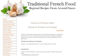 http://www.traditionalfrenchfood.com/cheese-and-tomato-salad.html