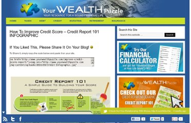http://www.yourwealthpuzzle.com/improve-credit-score-report/