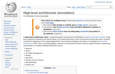 http://en.wikipedia.org/wiki/High-level_architecture_(simulation)