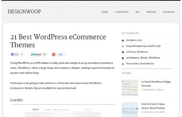 http://designwoop.com/2011/10/21-best-wordpress-ecommerce-themes/