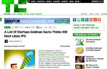 http://techcrunch.com/2011/12/03/a-list-of-startups-goldman-sachs-thinks-will-most-likely-ipo/