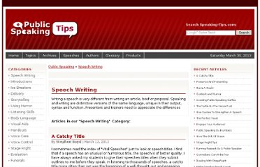 http://www.speaking-tips.com/Speech-Writing/