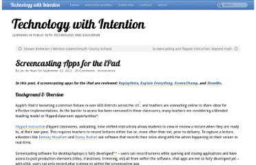 http://www.techwithintent.com/2011/09/screencasting-apps-for-the-ipad/#more