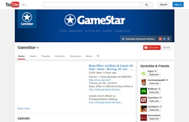 http://www.youtube.com/user/GameStarDE