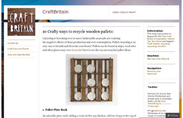 http://craftbritain.co.uk/2011/08/24/recycle-wooden-pallets/