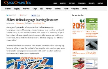 http://www.quickonlinetips.com/archives/2011/12/best-online-language-learning-resources/