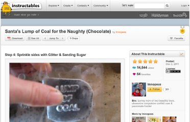 http://www.instructables.com/id/Santas-Lump-of-Coal-for-the-Naughty-Chocolate/step4/Sprinkle-sides-with-Glitter-Sanding-Sugar/