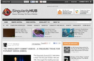 http://singularityhub.com/2011/12/04/the-singularity-summit-videos-%e2%80%93-a-treasure-trove-for-futurist-geeks-video/
