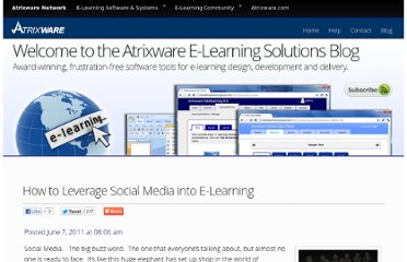 http://www.atrixware.com/blog/wp/how-to-leverage-social-media-into-e-learning/