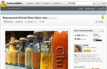 http://www.instructables.com/id/Repurposed-Etched-Glass-Spice-Jars/