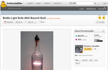 http://www.instructables.com/id/Bottle-Light-Bulb-AKA-Bacardi-Bulb/