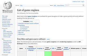 http://en.wikipedia.org/wiki/List_of_game_engines