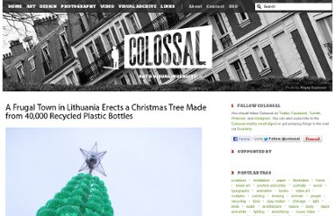 http://www.thisiscolossal.com/2011/12/christmas-tree-made-from-40000-recycled-plastic-bottles/