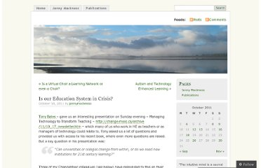 http://jennymackness.wordpress.com/2011/10/18/is-our-education-system-in-crisis/