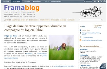 http://www.framablog.org/index.php/post/2010/01/30/logiciel-libre-developpement-durable-age-de-faire