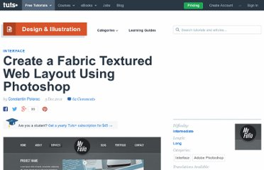 http://psd.tutsplus.com/tutorials/interface-tutorials/fabric-textured-web-layout/