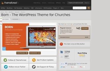 http://themeforest.net/item/born-the-wordpress-theme-for-churches/803941
