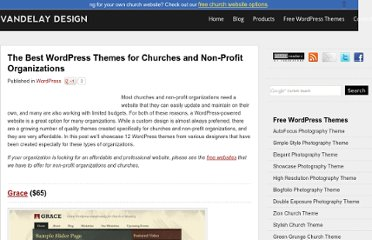 http://vandelaydesign.com/blog/wordpress/church-themes/