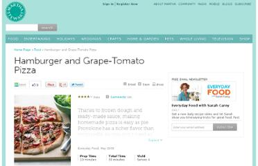 http://www.marthastewart.com/316190/hamburger-and-grape-tomato-pizza