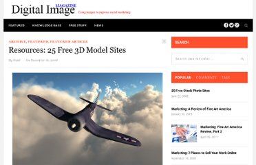 http://www.digitalimagemagazine.com/blog/featured/25-free-3d-model-sites/