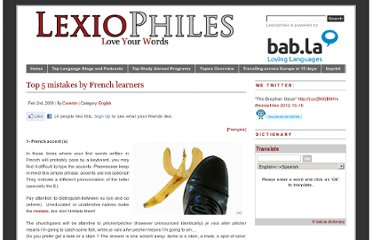 http://www.lexiophiles.com/english/top-5-mistakes-by-french-learners