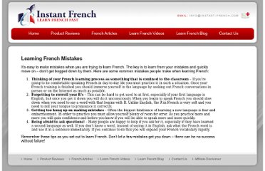 http://www.instant-french.com/french-articles/common-mistakes-when-learning-french/