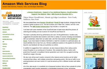 http://aws.typepad.com/aws/2011/12/three-more-cloudfront-locations-new-york-indiana-san-jose.html