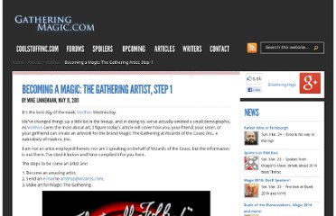 http://www.gatheringmagic.com/how-to-become-a-magic-the-gathering-artist-step-1/