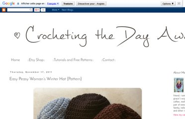 http://crochetingthedayaway.blogspot.com/2011/11/this-hat-is-really-easy-i-am-happy-to.html