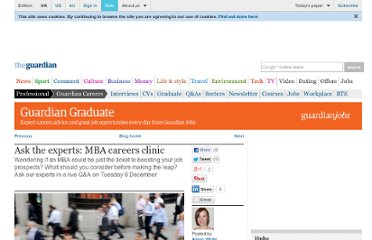 http://careers.guardian.co.uk/mba-careers-clinic