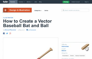 http://vector.tutsplus.com/tutorials/illustration/how-to-create-a-vector-baseball-bat-and-ball/