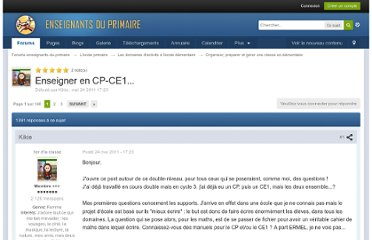http://forums-enseignants-du-primaire.com/topic/260702-enseigner-en-cp-ce1/