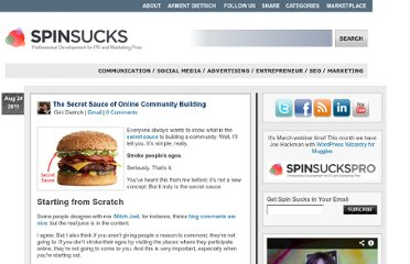 http://spinsucks.com/social-media/the-secret-sauce-of-online-community-building/