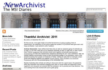 http://newarchivist.com/2011/12/05/thankful-archivist-2011/