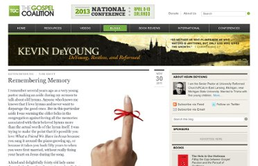 http://thegospelcoalition.org/blogs/kevindeyoung/2011/11/30/remembering-memory-2/