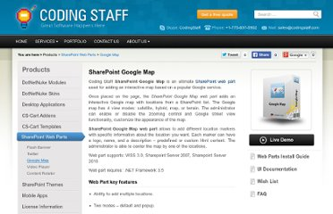 http://www.codingstaff.com/products/sharepoint-web-parts/google-map