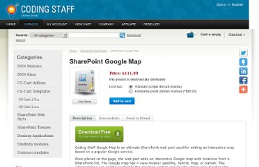 http://www.codingstaff.net/sharepoint-web-parts/sharepoint-google-map.html