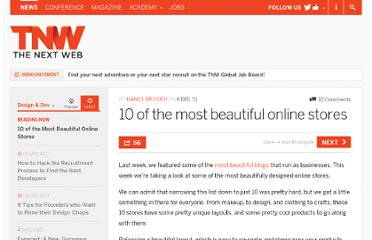 http://thenextweb.com/dd/2011/12/06/10-of-the-most-beautiful-online-stores/