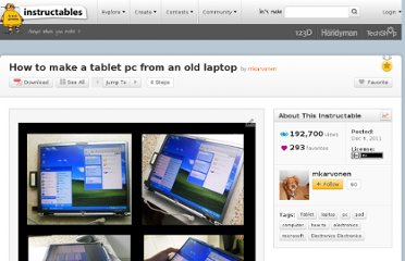 http://www.instructables.com/id/How-to-make-a-tablet-pc-from-an-old-laptop/