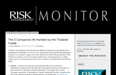 http://www.riskmanagementmonitor.com/the-5-companies-hit-hardest-by-the-thailand-floods/