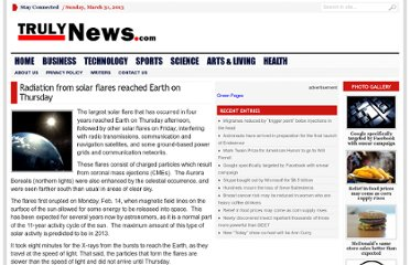 http://trulynews.com/radiation-from-solar-flares-reached-earth-on-thursday/194360/