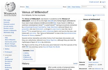 http://en.wikipedia.org/wiki/Venus_of_Willendorf