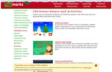 http://www.topmarks.co.uk/Christmas/ChristmasGames.aspx