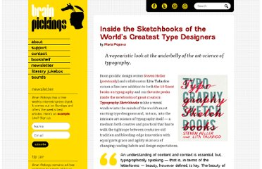 http://www.brainpickings.org/index.php/2011/12/05/typography-sketchbooks/