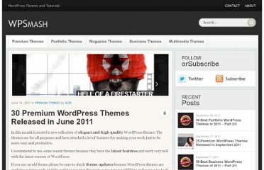 http://wpsmash.com/premium-themes/30-premium-wordpress-themes-released-in-june-2011/