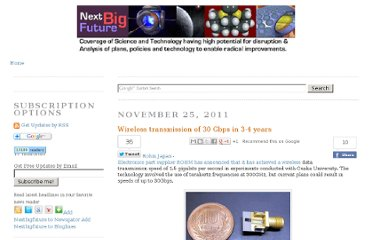 http://nextbigfuture.com/2011/11/wireless-transmission-of-30-gbps-in-3-4.html