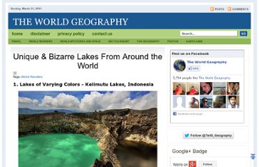 http://www.theworldgeography.com/2011/11/unique-bizarre-lakes-from-around-world.html
